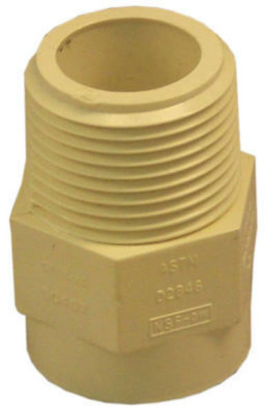 "Genova 50407 CPVC Male Adapter, 3/4"", MIP x SLIP"