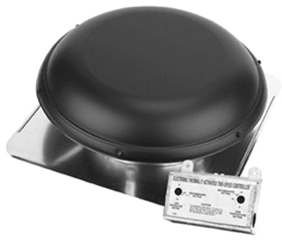 Air Vent 53847 All Season Roof Mounted Power Attic Ventilator, Black