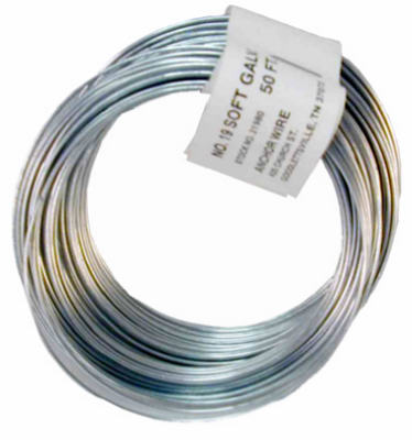 Hillman 123175 Galvanized Smooth Wire 330', 12-1/2 Gauge