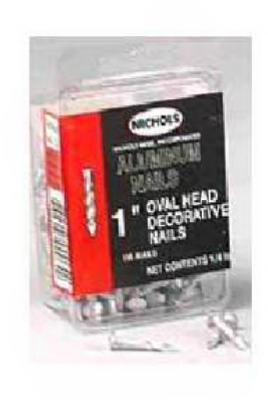 "Aluminum Oval Nails 1"" Pack 200"