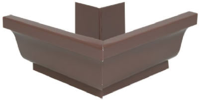 "Amerimax 1920219 Galvanized-Steel Outside Mitre, 4"", Brown"