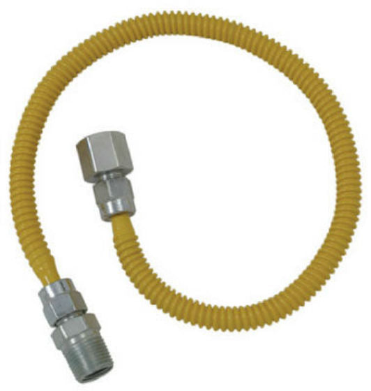 BrassCraft CSSL54-60-P SL Series Stainless Steel Gas Connector, 60''