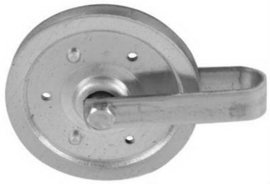 National Hardware® N280-537 Galvanized Pulley with Fork, 4""