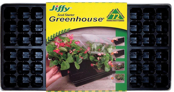 "Jiffy® T72H Easy Grow Greenhouse Plant Seed Tray Kit, 11"" x 22"""