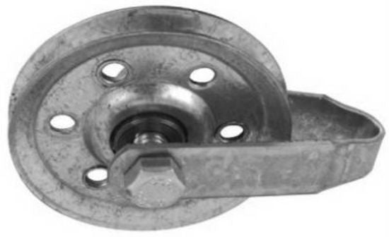"National Hardware® N280-552 Pulley with Fork, 3"", Galvanized"