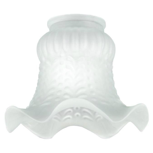 "Westinghouse 81242 Tulip Satin Glass Crimp Shade with 2-1/4"" Fitter, 5-1/2"""
