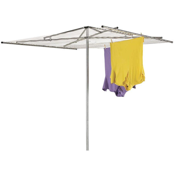Household Essentials® H-150 Rope Arm Steel Outdoor Parallel Clothes Dryer, 182'
