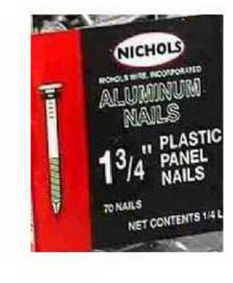 "Plastic Panel Nail 1-3/4"" 100 Pack"
