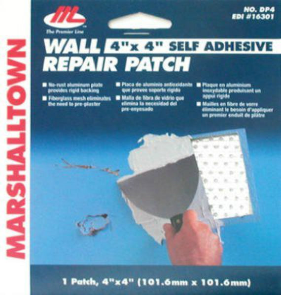 "Marshalltown® 16301 Drywall Repair Patch Kit, 4"" x 4"""