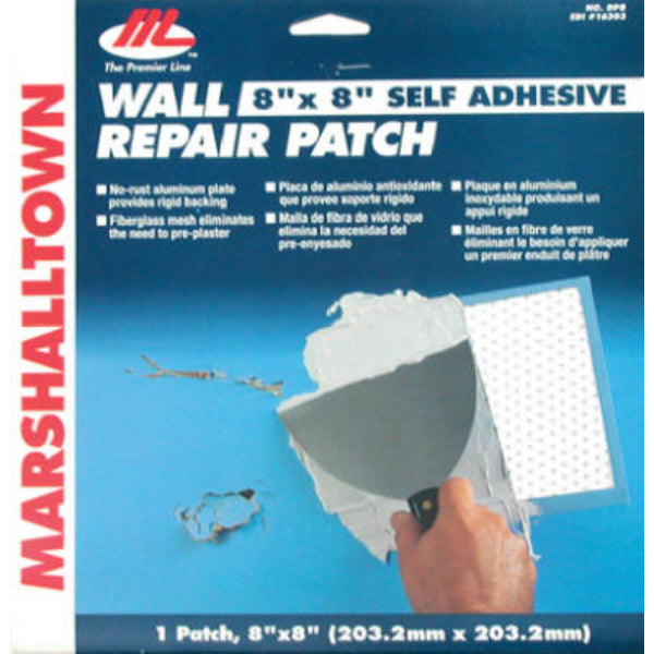 "Marshalltown® 16303 Self Adhesive Drywall Repair Patch Kit, 8"" x 8"""