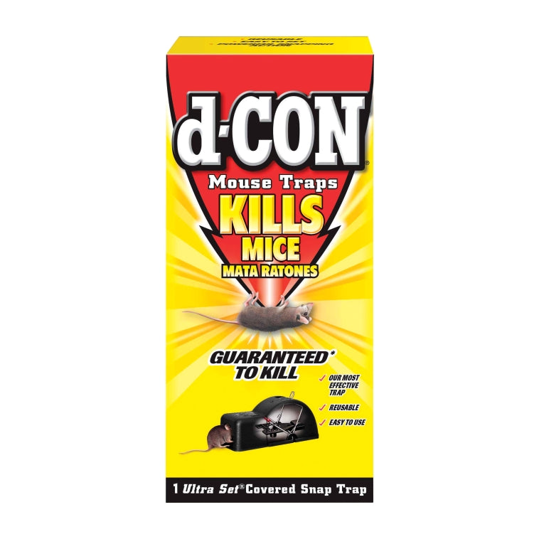 d-CON® 1920000027 Ultra Set® Covered Snap Mouse Trap