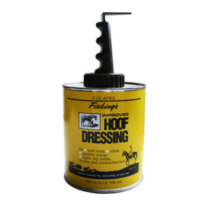 Fiebing's HFDR00A032Z Improved Horse Hoof Dressing with Applicator Brush, 32 Oz