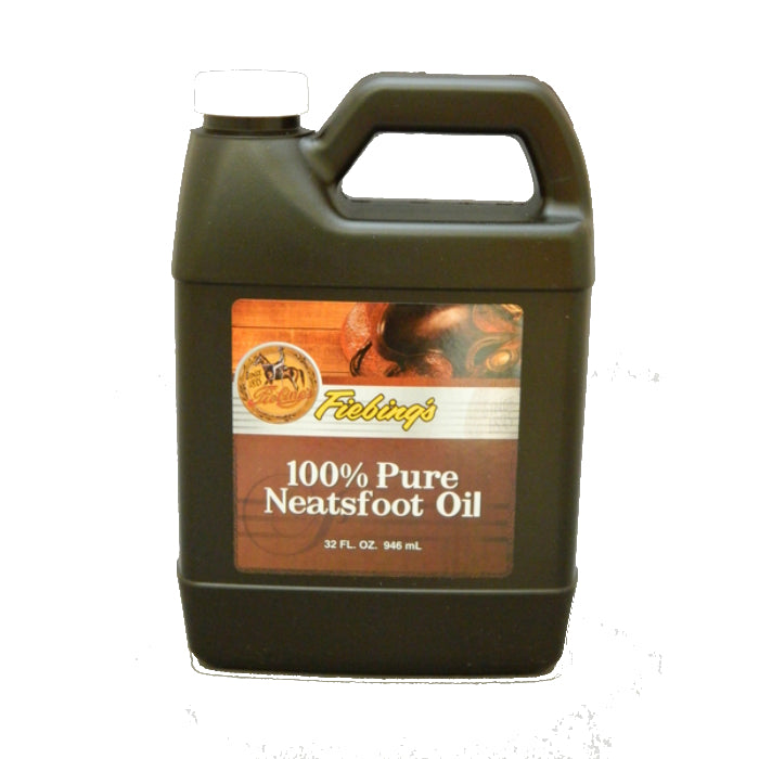Fiebing's PURE00P032Z Neatsfoot Oil 100% Pure Natural Leather Preservative, 32 Oz