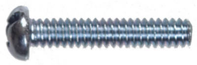 Hillman 90266 Slotted Round Head Machine Screw, 10-24 x 3""