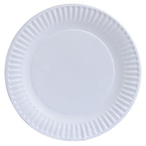 Aspen 121006 Uncoted White Paper Plates, 100-Count, 6""