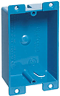 "Carlon B108R-UPC Single Gang Outlet Switch Box, 3-5/8"" X 2-3/8"" X 1-1/4"""