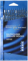 South Bend BH-48A Baitholder Snelled Bronze Hooks, Assorted Size, 48-Pack