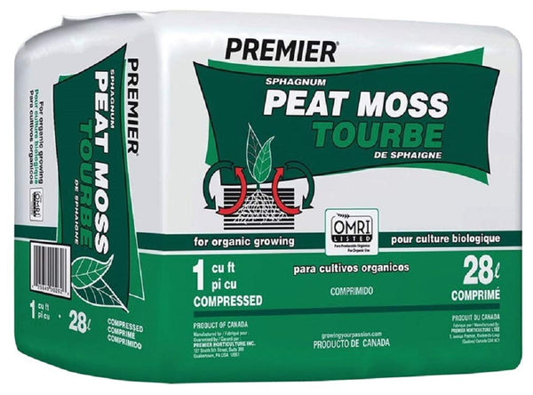 Premier 0262P Sphagnum Peat Moss for Organic Growing, 1-CuFt