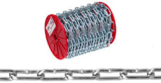 Campbell® 0723627 Straight Link Coil Chain, Zinc Plated, 125'