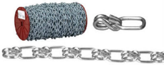 Campbell® 0723427 Lock Link Single Loop Chain, Zinc Plated, 125'