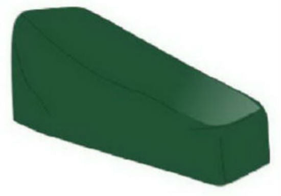 Four Seasons Courtyard 63011 Patio Chaise Cover, PVC, Green