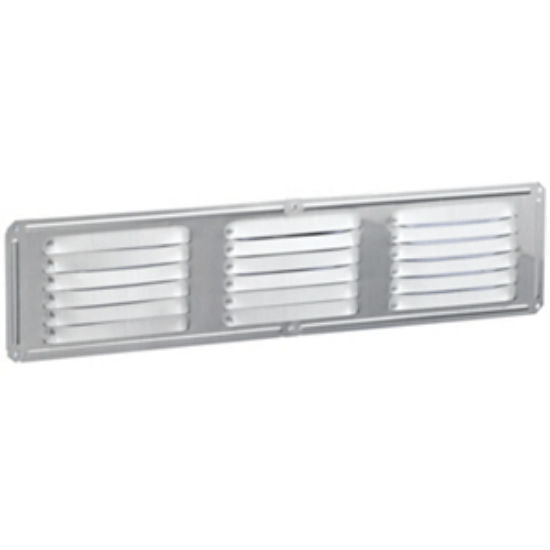 "Air Vent 84126 Aluminum Undereave Vent, Mill finish, 16"" x 4"""