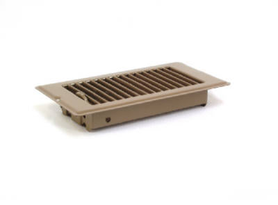 Brown Metal Floor Register