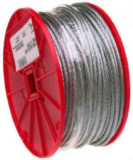 "Campbell® 7000627 Galvanized Cable, 3/16"" x 250'"