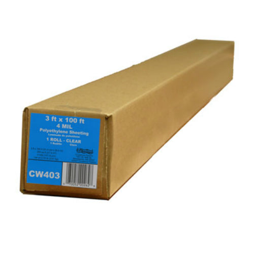 Film-Gard® 625885 Polyethylene Construction Sheeting, #CW403, 3' x 100', Clear