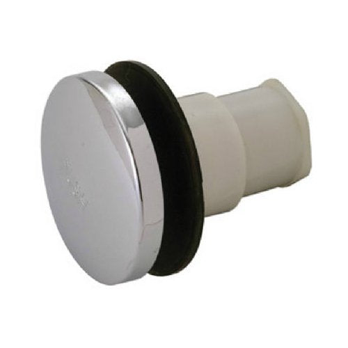 Master Plumber 172-547 Plastic Body Universal Stopper, Chrome Finish Cap
