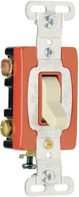 Pass & Seymour Premium 3 Way Toggle Switch, 20A, Ivory
