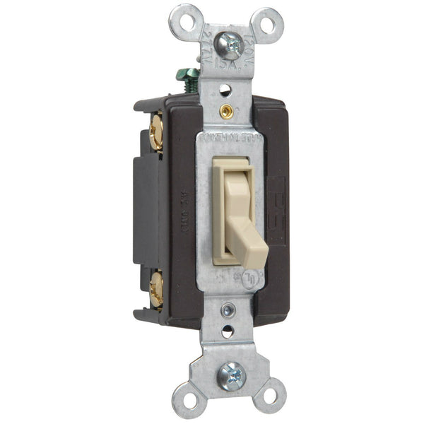 Pass & Seymour 664IGCC12 TradeMaster Standard 4-Way Toggle Switch, Ivory