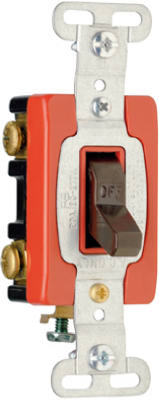 Pass & Seymour Premium Double Pole Toggle Switch, 20A, Brown