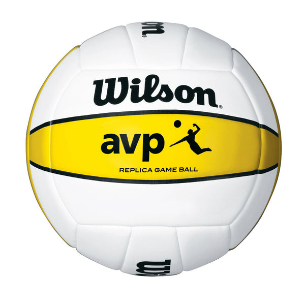 Wilson® WTH4670 AVP Replica Outdoor Volleyball, Official, White/Yellow
