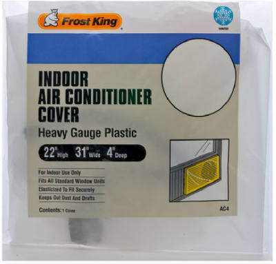 "Frost King AC4H Indoor Air Conditioner Cover, 3 Mil, 22"" x 31"" x 4"""