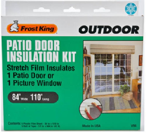 "Frost King V96H Outdoo Patio Door Insulation Kit, 84""x110"""