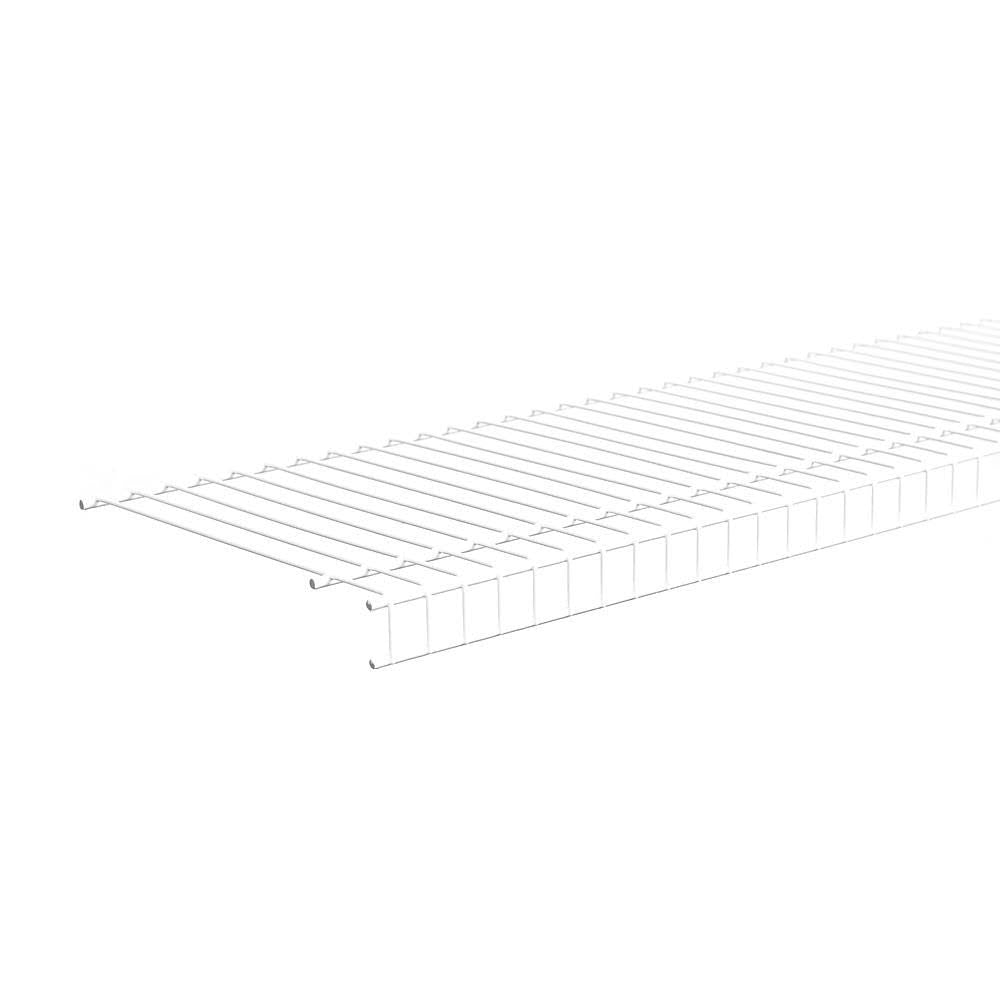 ClosetMaid® 4719 SuperSlide® All Purpose Wire Shelf, White, 8' x 12''