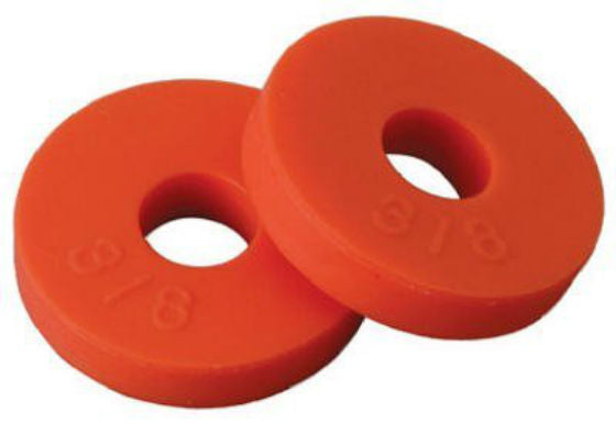 "BrassCraft SC2114 Flat Faucet Washer Orange, 5/8"", 2 Pack"