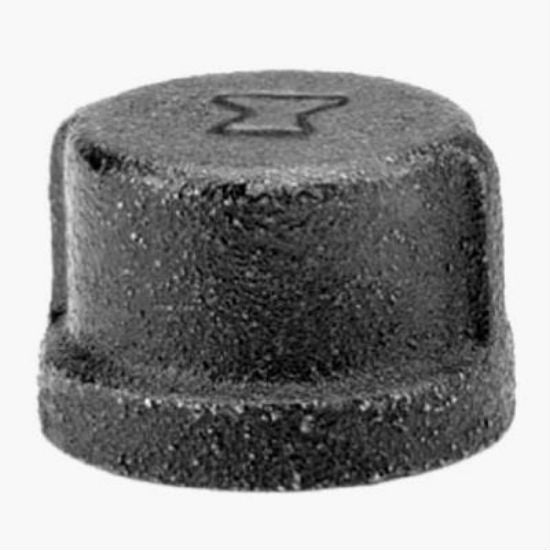 Anvil® 8700132403 Black Pipe Cap, 1-1/2""