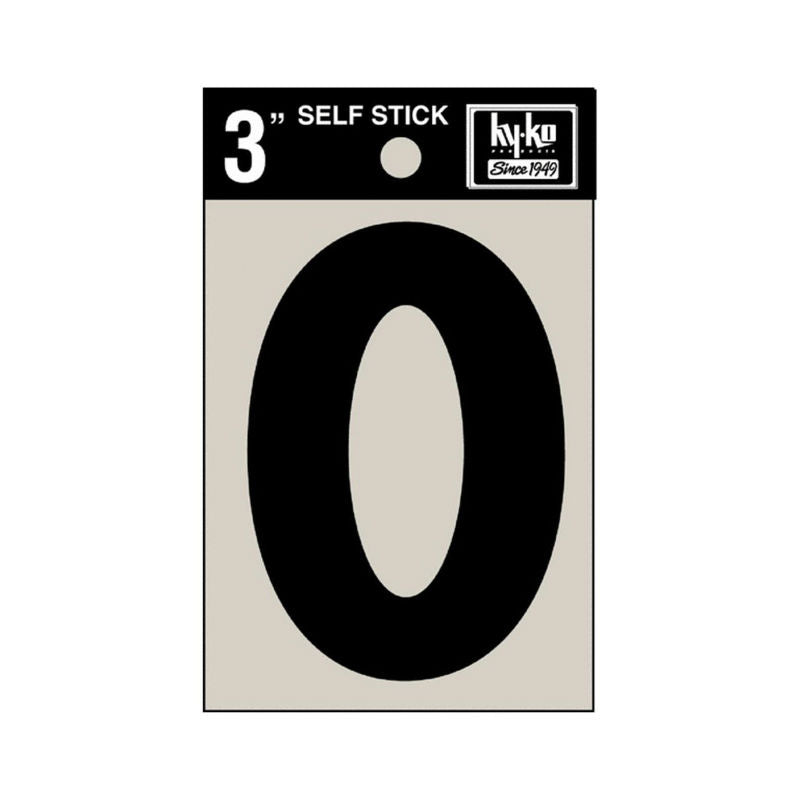 "Hy-Ko 30425 Self-Stick Vinyl Die-Cut Letter O Sign, 3"", Black"