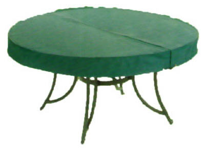 "Four Seasons Courtyard 63013 Round Table Cover, 60"", Green"