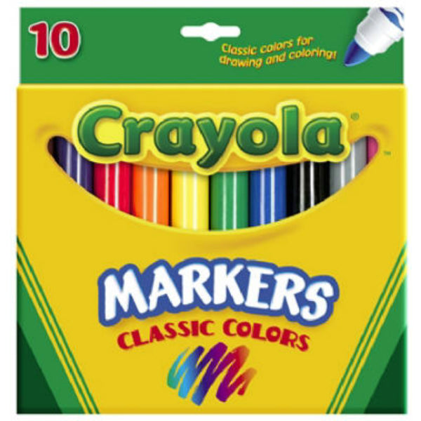 Crayola 58-7722 Broad Tip Coloring Marker, 10 Count