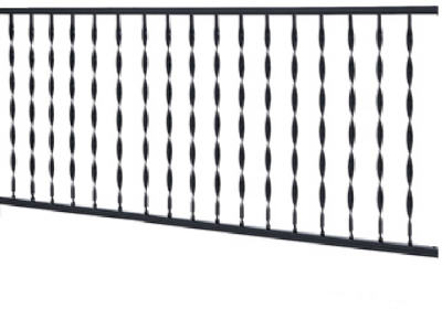 Gilpin 574 Windsor Railing, Black, 4'