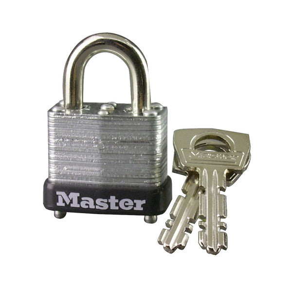 Master Lock 10D Warded Steel Laminated Padlock, 1""