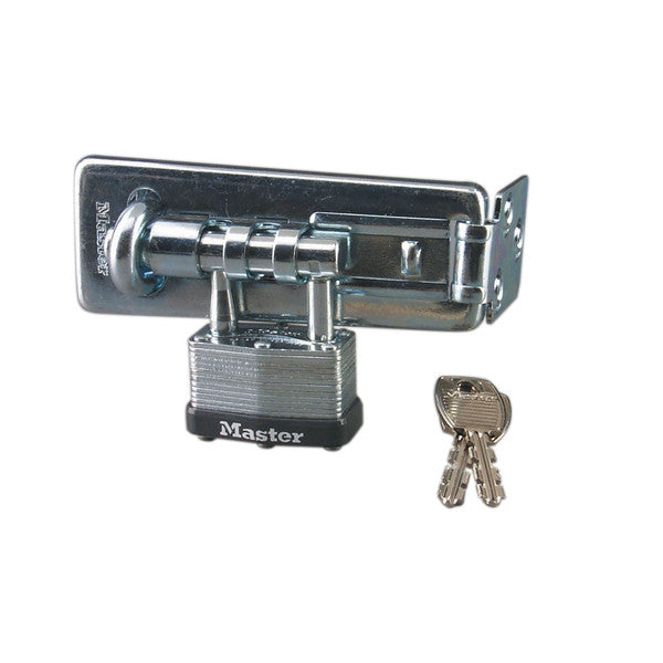 Master Lock 450-D Warded Hasp & Hasplock, 4-1/2""