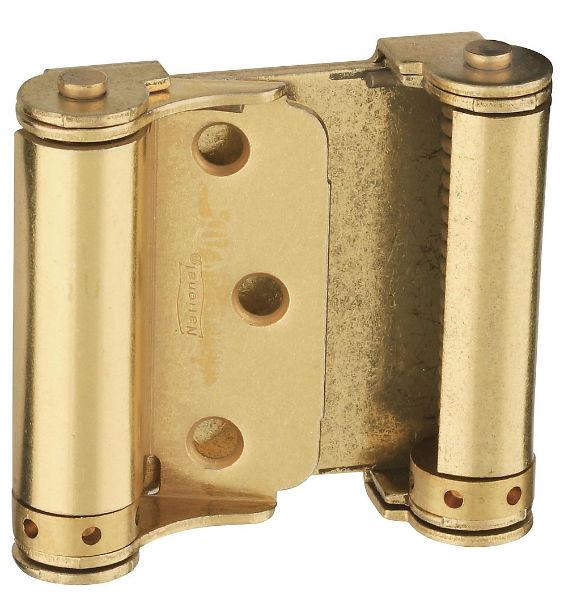 "National Hardware® N115-303 Double-Acting Spring Hinges, 3"", Dull Brass, 2-Pack"