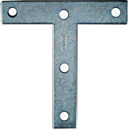 "National Hardware® N113-753 T-Plate with Screws, 4"" x 4"", Zinc 2-Pack"
