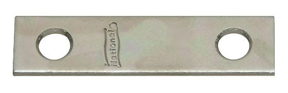 "National Hardware® N114-314 Mending Plates, 2"" x 1/2"", Zinc, 4 Pack"