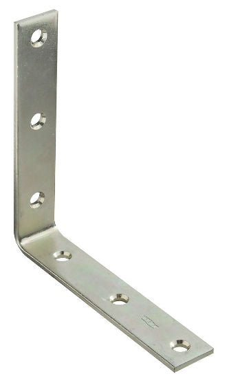 "National Hardware® N220-160 Corner Iron, 6"" x 1-1/8"", Zinc Plated"