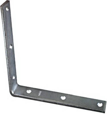 "National Hardware® N220-178 Corner Iron, 8"" x 1-1/4"", Zinc Plated"